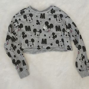Mickey Mouse crop top sweater